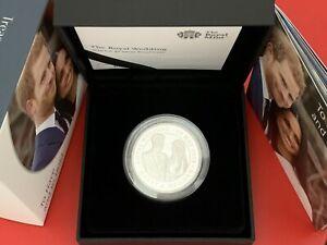 Royal Mint 2018 Silver Proof Royal Wedding £5 Five Pounds Prince Harry & Meghan
