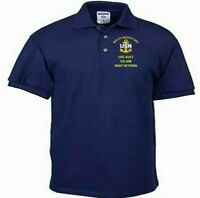 USS AULT  DD-698 NAVY ANCHOR EMBROIDERED LIGHT WEIGHT POLO SHIRT