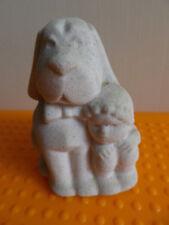 Marbell by Stone Art Belgium 2 beste Freunde: Hund u. Kind H 7 cm 200 g Skulptur