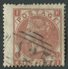 GB used in Malta Z72 10d Red-Brown, Pl1 KI, wing marginal nibbled perfs, A25 can