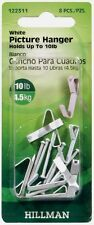 Pack 8 Hillman anchorwire 4.5kg acero estándar ESPEJO FOTO Percha con clavos