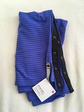 NWT Lululemon Vinyasa Scarf Wrap SKIF Stripe Purple Blue Black Snaps Rare $48