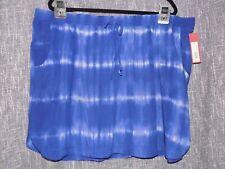 Merona Women's 2X Tie Dye 100% Rayon Skirt Elastic Waist 521361