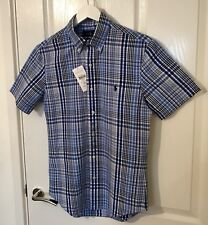 Ralph Lauren Men's Short Sleeve Blue Check Shirt Size S New With Tags