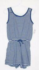 NEW GAP KID NAVY BLUE ROMPER-XS 4-5 GIRL-ONE PIECE SHORT OUTFIT-SLEEVELESS COTTN