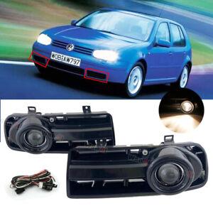 For Volkswagen Golf MK4 99-05 L&R Fog Light Bumper Driving Lamps+Wiring