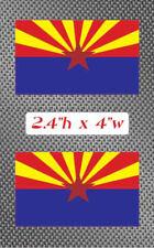 "2x Arizona 4"" Flag Sticker Decal graphic state Vinyl AZ"