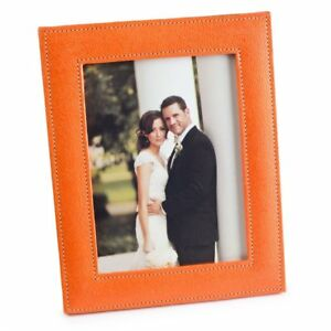 Orange Ecoleatherette Handcrafted Eco Friendly Sleek Regular Photo Frame