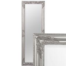 Wandspiegel BESSA silber antik 140x50cm barock Design Spiegel pompös Holzrahmen