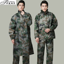 mens rain coat army green camouflage military jacket tops outwears size CN M-3XL