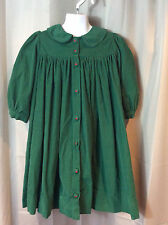 STRASBURG Green Feather Corduroy Holiday Christmas Dress Girls 4 4T