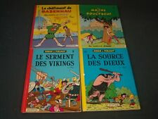 1954-1969 JOHAN ET PIRLOUIT FRENCH BOOKS LOT OF 8 - - BELGIUM COMICS - KD 4583