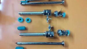 2 Pc Laparoscopy Spiral Trocar Cannula 5mm and 10mm Laparoscopic Instruments