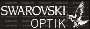 Swarovski Optik Scopes - Hunting / Shooting - Vinyl Die-Cut Peel N' Stick Decals