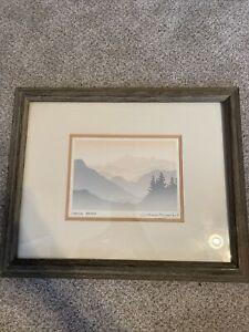 "Framed Silkscreen ""Coastal Range"" Print by Peter and Traudl Markgraf. 16""x13"""