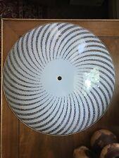 Atomic Op Art Mid Century Modern Ceiling Shade Fixture Glass Starburst Vtg Retro