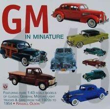 BOOK : GENERAL MOTORS/GM MINIATURE 1/43 CAR/VOITURE