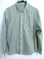 Eddie Bauer Wrinkle Resistant Mens Size Medium Green Plaid Button Up Shirt