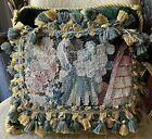 Pillow Antique Verdure Flemish tapestry Fragment French Aubusson 18th Century
