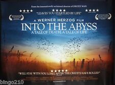 INTO THE ABYSS ORIGINAL 2011 CINEMA QUAD POSTER WERNER HERZOG