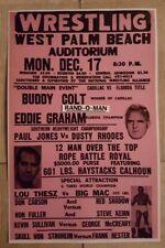 "Vintage Wrestling Poster Buddy Colt vs Eddie Graham ""Cadillac vs Fla. Title"""