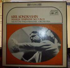 MAHLER Symphony No. 9, KIRIL KONDRASHIN, Moscow P.O. 2 LP, NM/EX Seraphim