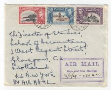 1939 Port of Spain Trinidad AIR MAIL Cover 21c to New York - Postal History