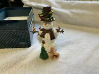 """1997 LANG & WISE LTD. Classic """"All Decked Out"""" SNOWMAN by Sue Dreamer"""