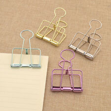 Document File Stationery Paper Metal Binder Clips Office Supplies Random 2 Pcs