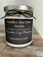 Handmade Soy Candles that smell AMAZING in 9oz Clear Jars