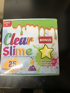 CLEAR SLIME 25 PACK PARTY SET BIRTHDAY SCIENCE NEW