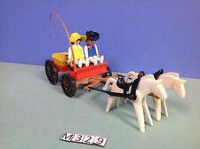 (M329) playmobil chariot western vintage 1983 ref 3587