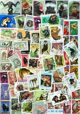 MONKEYS & APES hard to find collection 100 different stamps
