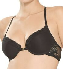 Natori Feathers Front Close T-Back Bra 735023 in Black 32D