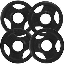 "Olympic Tri Grip Weight Plate Discs 4 x 1.25kg│2"" Hole Rubber Encased by BodyRip"