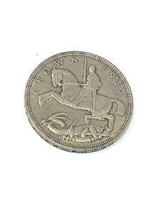Super Antique Art Deco C1935 500 Grade Silver Rocking Horse Crown Coin 27g #499