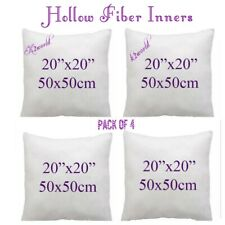 CUSHION PADS PACK OF 4 DEEP FILLED FILLERS / CUSHIONS / PADS SIZE  20X20 INCHES