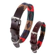 Pampeano Navidad Leather Dog Collar