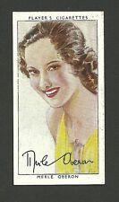 Merle Oberon Vintage 1938 Players Cigarettes Film Movie Star Card