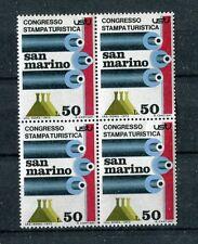 San Marino 1973 Congresso stampa turistica in QUARTINA Mnh