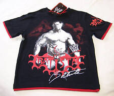 WWE Wrestling Batista Black Red Boys T Shirt Size 7 New