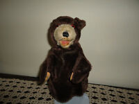 Antique Steiff Teddy Baby Hand Puppet Mohair Glass Eyes