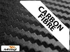 NERO Fibra Di Carbonio Vinile A4 5 fogli IMPERMEABILE Automotive Grade 10Yr confezionamento