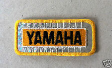 Vintage Sew-on Patch Yamaha Reflective Silver with Yellow Text and Lining