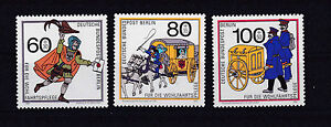 Berlin 852-54** POST COACH LETTER HORSE GERMANY 1989 POSTMAN