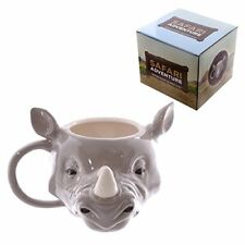 Mug Rhino Head - Safari Wild Jungle Animal Mug 3D Novelty Mug Kitchen