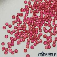 [WHOLESALE] NATURAL BURMA RED RUBY GEMSTONE ROUND FACETED V. SIZES LOOSE STONES