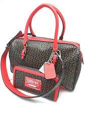 GUESS Handbag&Wallet Set*Transit*Natural Brown/Red/G Logo  Satchel Shoulder