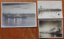 WHITE STAR LINE RMS MAJESTIC UNION CASTLE LINE SOUTHAMPTON DOCKS 3 X ORG PHOTOS
