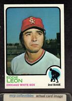 1973 Topps #287 Eddie Leon Chicago White Sox Baseball Card NM